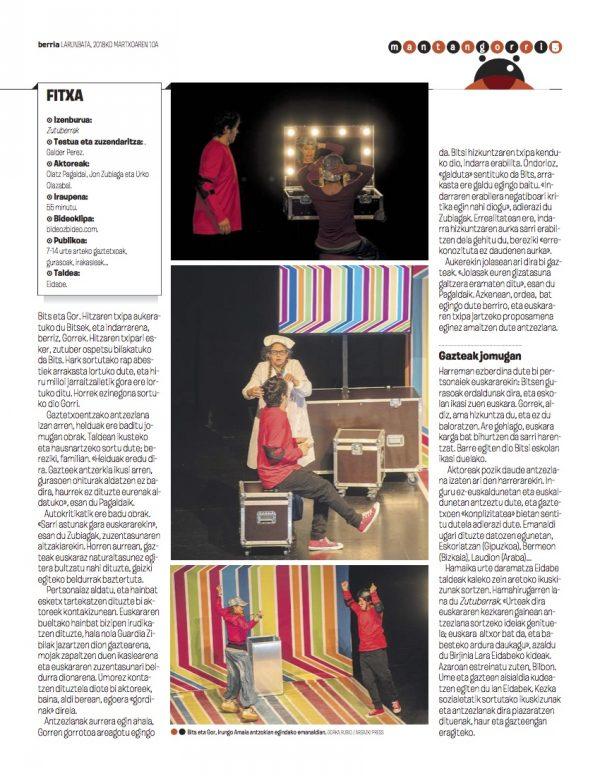 Teatro en euskera para jóvenes euskaraz de eidabe